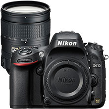 Nikon D610 24.3MP DSLR Camera (Body Only) & Extra 28–300mm Lens