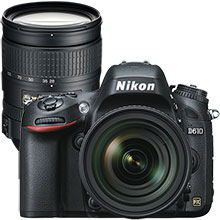 Nikon D610 24.3MP Digital SLR Camera with 24–85mm Lens and Extra 28–300mm Lens