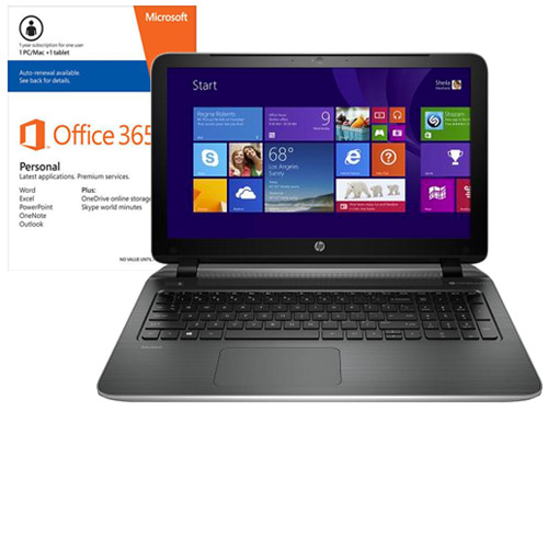 HP Pavilion 15-p214dx Laptop & Microsoft Office Package