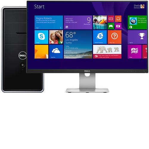 """Dell Inspiron I3847-3851BK Desktop & 23.8"""" IPS LED Monitor Package"""