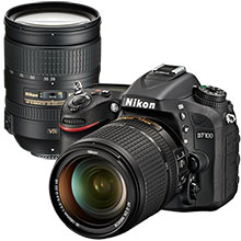 Nikon D7100 24.1MP DSLR Camera with 18-140mm Lens and Extra 28-300mm Lens