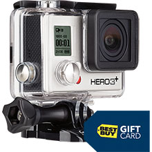 GoPro HERO3+ Silver Action Camera & Free $25 Best Buy Gift Card