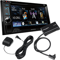 "Kenwood 6.2"" Bluetooth DVD Stereo Receiver and SiriusXM Connect Satellite Radio Vehicle Tuner"