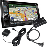 """Kenwood 6.2"""" Built-in GPS/Bluetooth/HD Radio DVD Stereo Receiver and SiriusXM Connect Satellite Radio Vehicle Tuner"""