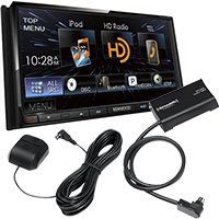 "Kenwood 6.95"" Bluetooth/HD Radio DVD Stereo Receiver and SiriusXM Connect Satellite Radio Vehicle Tuner"