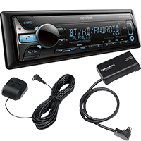 Kenwood Bluetooth/HD Radio CD Stereo Receiver and SiriusXM Connect Satellite Radio Vehicle Tuner