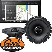"Alpine 7"" Digital Media Receiver, 6-1/2"" 2-Way Speakers (Pair) and Geek Squad® Installation"