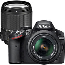 Nikon D3200 24.2MP DSLR Camera with 18-55mm Lens & Extra 18-140mm Lens