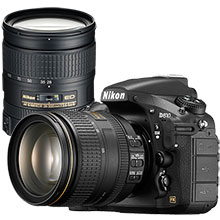 Nikon D810 36.3MP DSLR Camera with 24-120mm Lens and Extra 28-300mm Lens