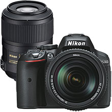 Nikon D5300 24.2MP DSLR Camera with 18-140mm Lens and Extra 85mm Telephoto Lens