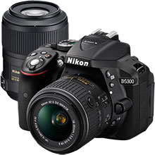 Nikon D5500 24.2MP DSLR Camera with 18-55mm Lens and Extra 85mm Telephoto Lens