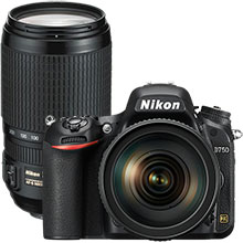 Nikon 750 24.3MP DSLR Camera with 24-120mm & Extra 70-300mm Telephoto Zoom Lens