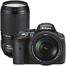 Nikon 24.2MP D5300 DSLR Camera with 18-140mm Lens and Extra 70-300mm Telephoto Zoom Lens