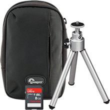 Accessory Package for Fujifilm JX665 Digital Camera with Bag, Mini Tripod and 8GB Memory Card