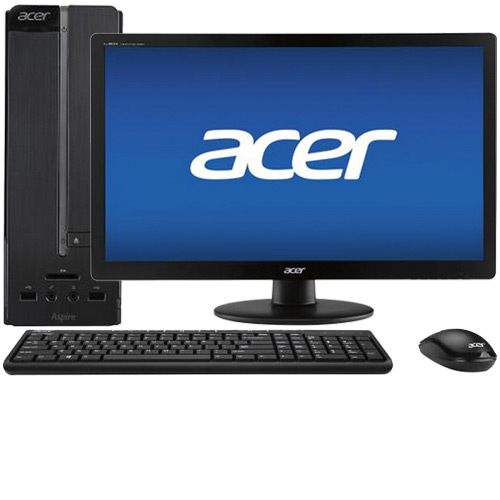 "Acer Aspire AXC-115-UR20 Desktop & 19.5"" LED Monitor Package"