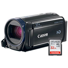Canon VIXIA HF R600 HD Flash Memory Camcorder and 32GB Memory Card