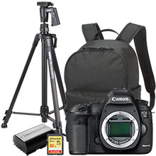 "Canon EOS 5D Mark III 22.3MP DSLR Camera (Body Only), Free Bag, Extra Battery, 61"" Tripod and 32GB Memory Card"