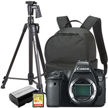 "Canon EOS 6D 20.2MP DSLR Camera (Body Only), Free Bag, Extra Battery, 61"" Tripod and 32GB Memory Card"