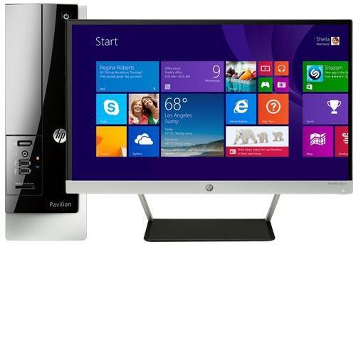 "HP Pavilion Slimline 400-434 Desktop & 21.5"" IPS LED Monitor Package"