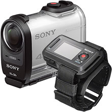 Sony FDRX1000 HD Action Camcorder - White and Sony Live View Remote