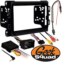 """Double DIN Receiver Installation Package for 2013–2015 Ram 2500/3500 Without Amplifier and 8.4"""" Touch Screen"""