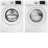 Samsung Front-Loading Washer & Electric Dryer Package