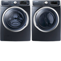 Samsung Front-Loading Steam Washer and Electric Steam Dryer Package
