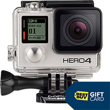 GoPro HERO4 Silver Action Camera and Free $40 Best Buy Gift Card