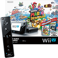Wii U with Mario 3D World, Nintendo Land and a Wii Remote Plus