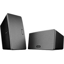 Sonos PLAY:3 Wireless Speakers (Black) Package