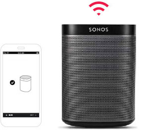 Smartphone with app and wireless speaker