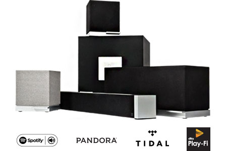 Speakers, subwoofer, sound bar, Spotify, Pandora, Tidal, Play-Fi