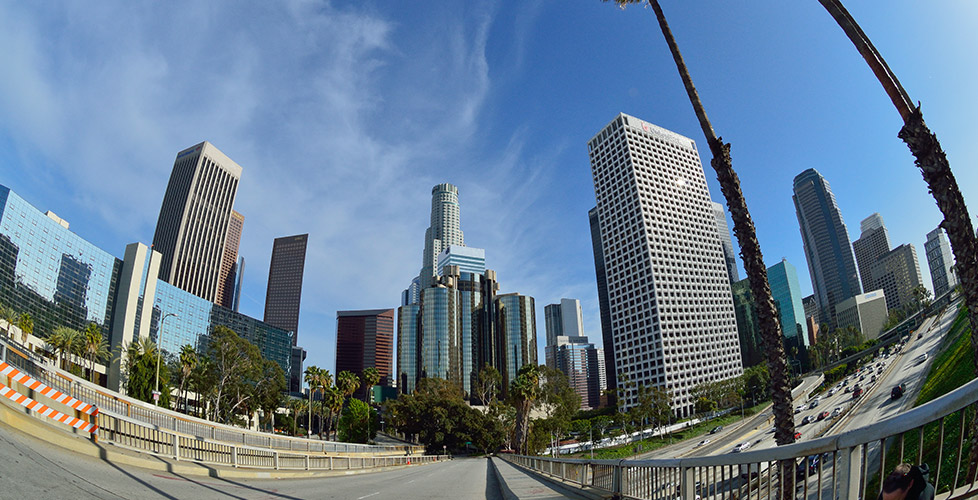 Skyline with fish-eye lens