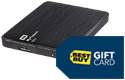 External hard drive, gift card