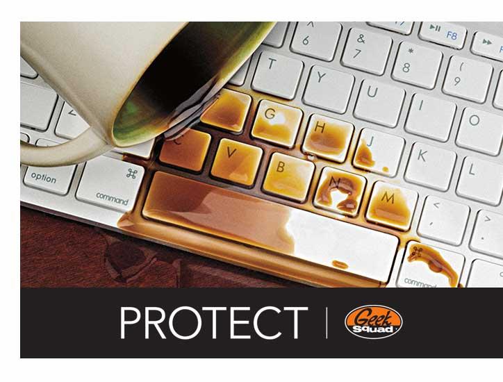 Spilled coffee on keyboard.