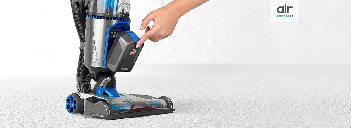 Air cordless vacuum, powered by LithiumLife