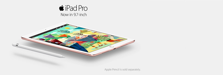 iPad, now in 9.7-inch, Apple Pencil is sold separately
