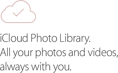 Cloud, iCloud photo library, all your photos and videos