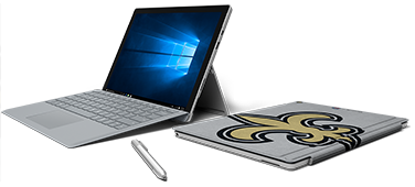 Laptops, type covers, Microsoft Surface, official sponsor of the N F L