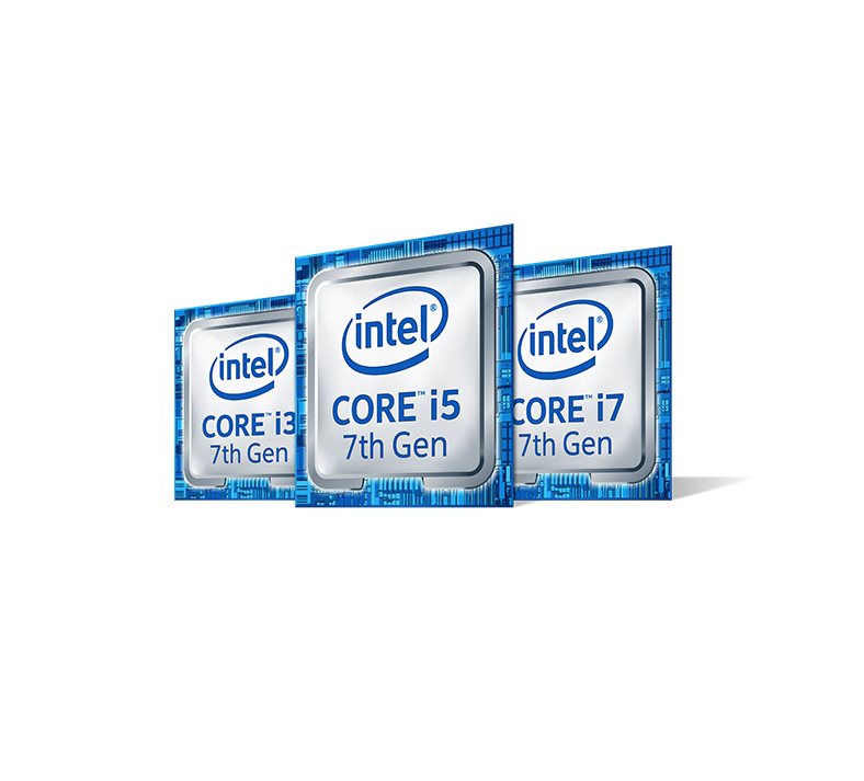 Intel Core i5 seventh generation processor, Intel Core i3 seventh generation processor, Intel Core i7 seventh generation processor
