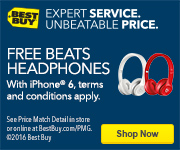 Free Beats headphones with iPhone 6. Terms and conditions apply. Shop now. See Price Match Detail in store or online at BestBuy.com/PMG. Copyright 2016 Best Buy. Expert service. Unbeatable price. Headphones.