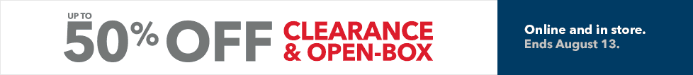 Up to 50% off clearance, open box and more. Ends August 13.