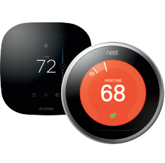 Smart Thermostats Wi-Fi Monitor Control Temperature Anywhere Smartphone Tablet Computer Custom Schedules Enhance Comfort Optimize Energy Savings