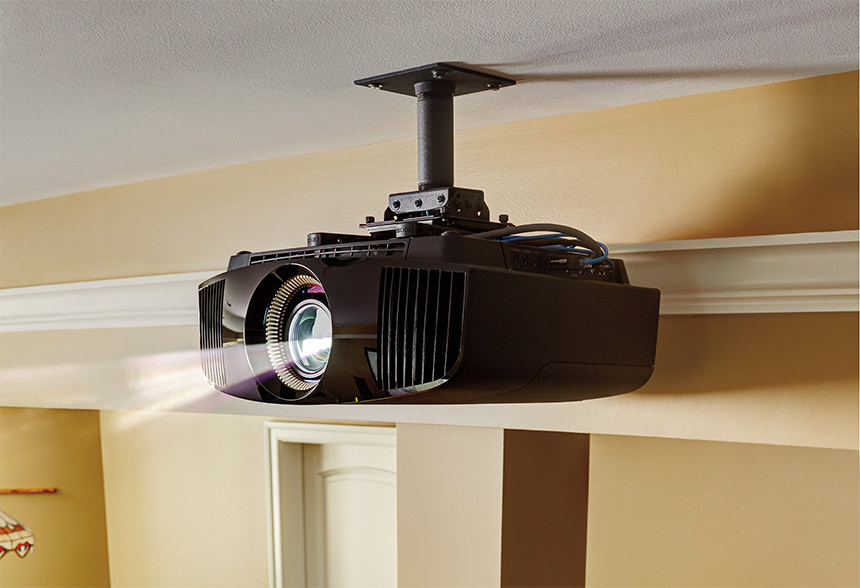 Projector, home theater