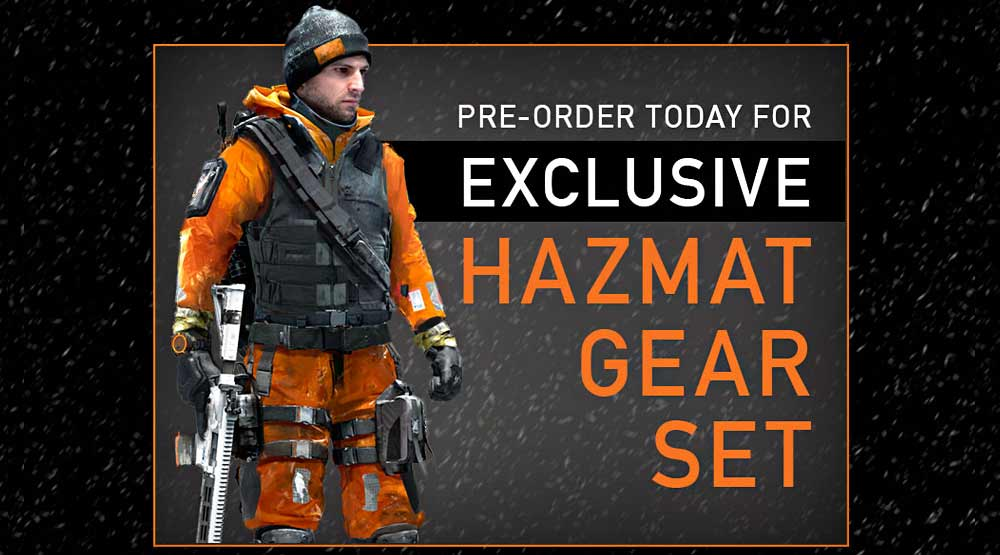 Tom Clancy's The Division Hazmat Gear Set with Pre-Order