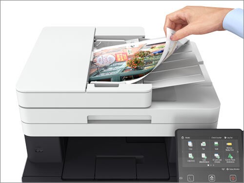 Duplex scanner with automatic document feeder