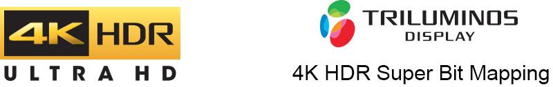4K HDR Ultra HD, Triluminos dislya, 4K HDR Super Bit Mapping