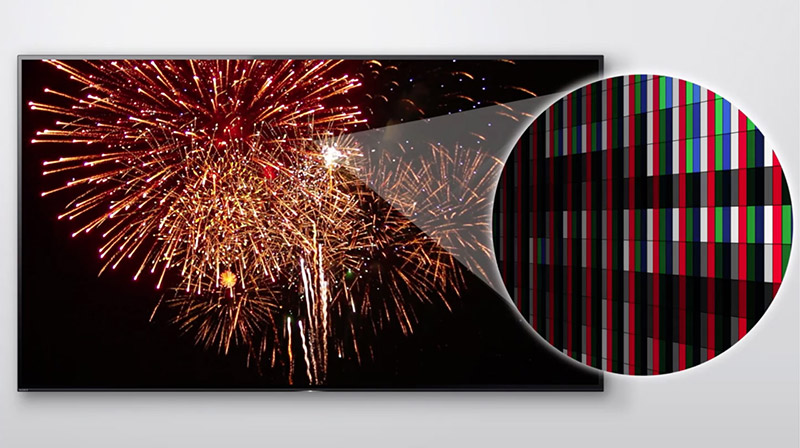 TV with fireworks
