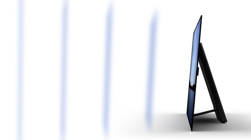 TV with sound vibration illustration