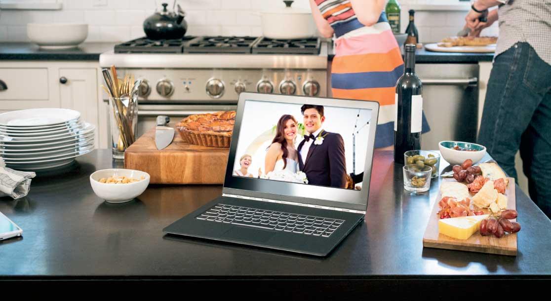 Photo on laptop screen